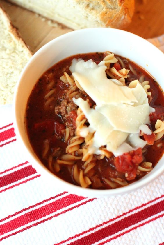 Just Another Day in Paradise: Slow Cooker Saturday: Lasagna Soup