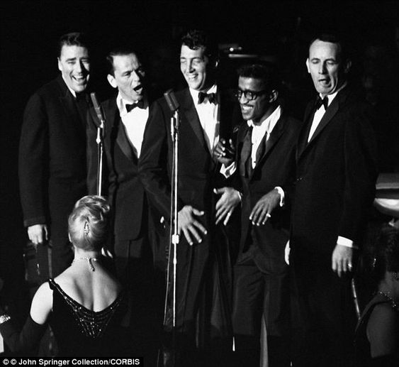 Lawford (far left) was a member of the Rat Pack with Frank Sinatra, Dean Martin, Sammy Davis Jr, and Joey Bishop