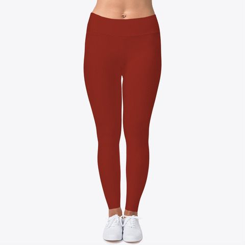 Burgundy Leggings Depot High Waist Double Lined Solid Yoga Leggings One Size