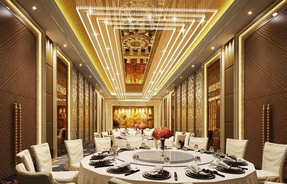 Design Luxurious Banquet Hall Restaurants Pinterest