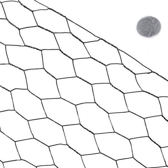 Fencer Wire 5 Ft X 150 Ft 20 Gauge Black Pvc Coated Poultry Netting With 1 In Mesh Nv20 B5x150m1 The Home Depot In 2020 Fencer Wire Mesh Fencing Hex Netting