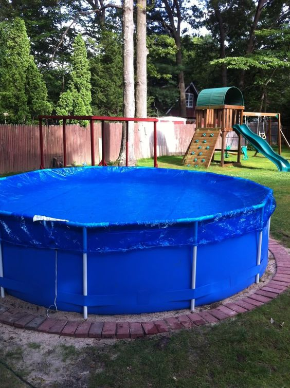 Pinterest the world s catalog of ideas for Above ground pool ideas for small yards