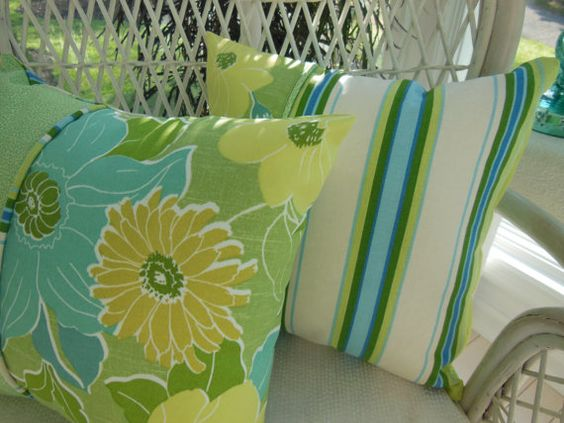 Decorative Pillow  Soothing Tropical Flowers by PillowscapeDesigns