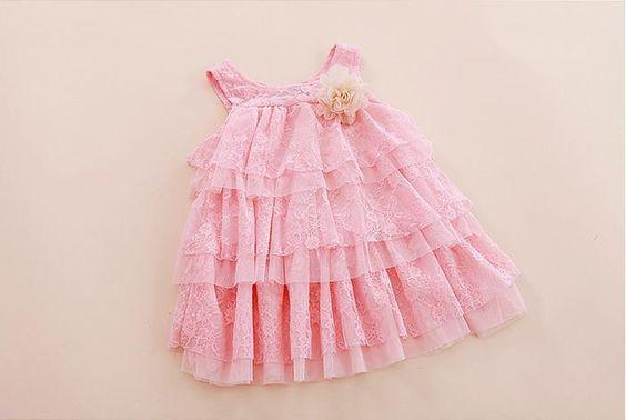 Infantil bebê meninas rendas vestidos crianças roupas para o outono verão crianças princesa flor vestido tutu vestido bolo de 4 cores rosa em Vestidos de Mamãe e Bebê no AliExpress.com   Alibaba Group