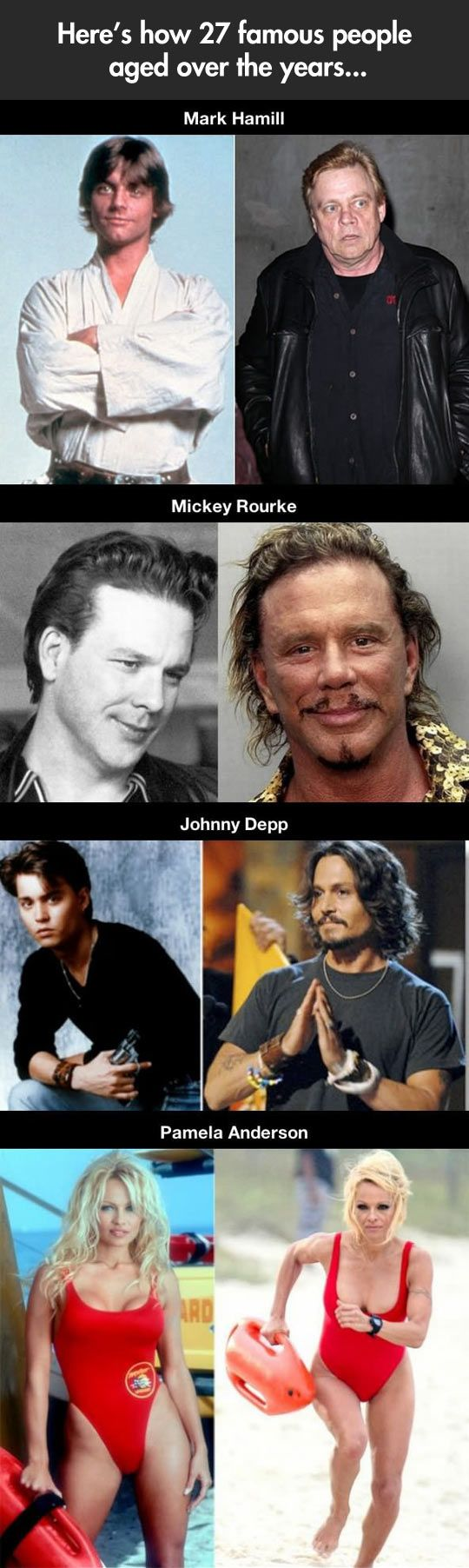 Celebrity Then & Now pictures: