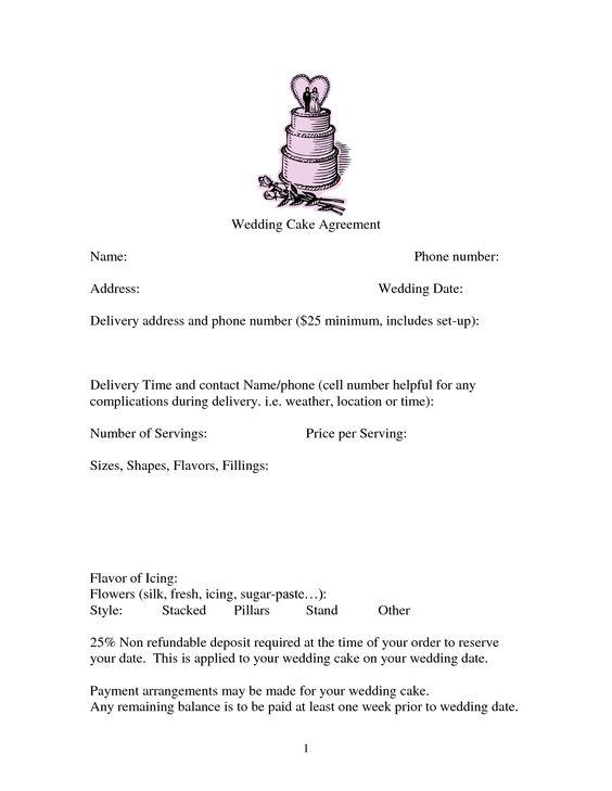 Wedding Cake Damage Cake Policy