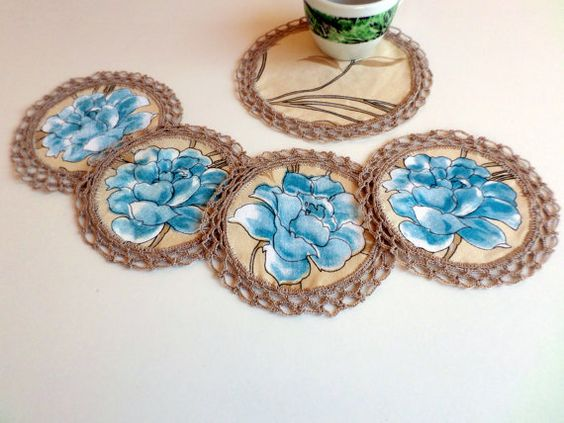 Spring Coasters Coaster Set Fabric Coasters by ArtofCreationNtina