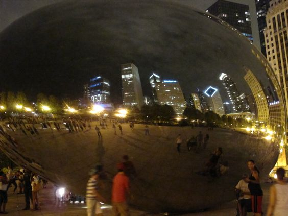 The Chicago Bean, reflection of the city, Millennium Park, Chicago -next week @Mary H. Mink