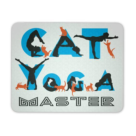 Cat Yoga Master Mouse Pad