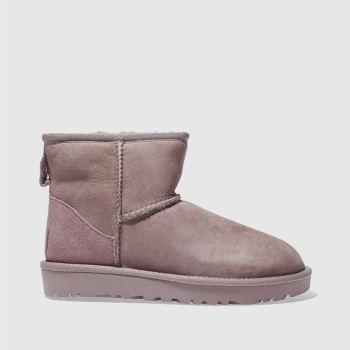 Ugg Pink Classic Mini Ii Womens Boots