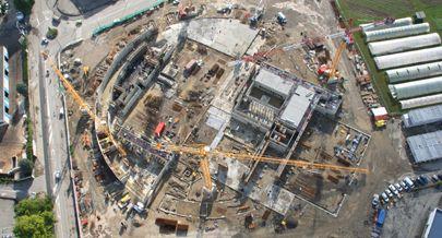 """2007-2008 chantier de construction """"du Phare"""" à Chambery"""