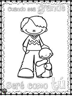 Feliz Dia Papa Educacion Preescolar Dia Del Padre Dibujos Dia