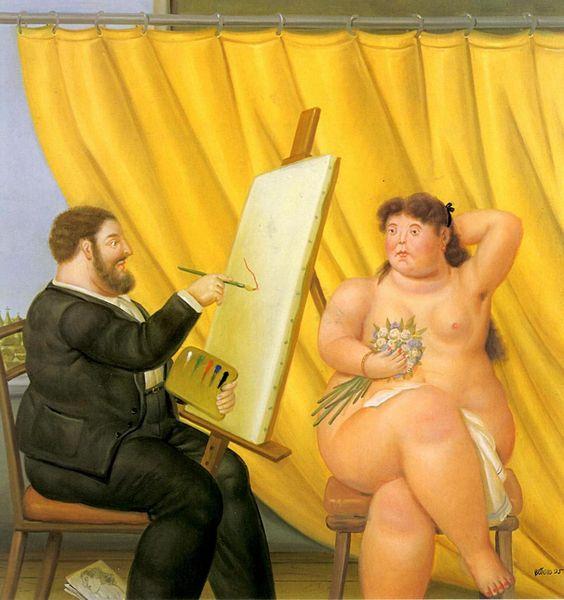 Fernando Botero - O Pintor e seu Modelo: