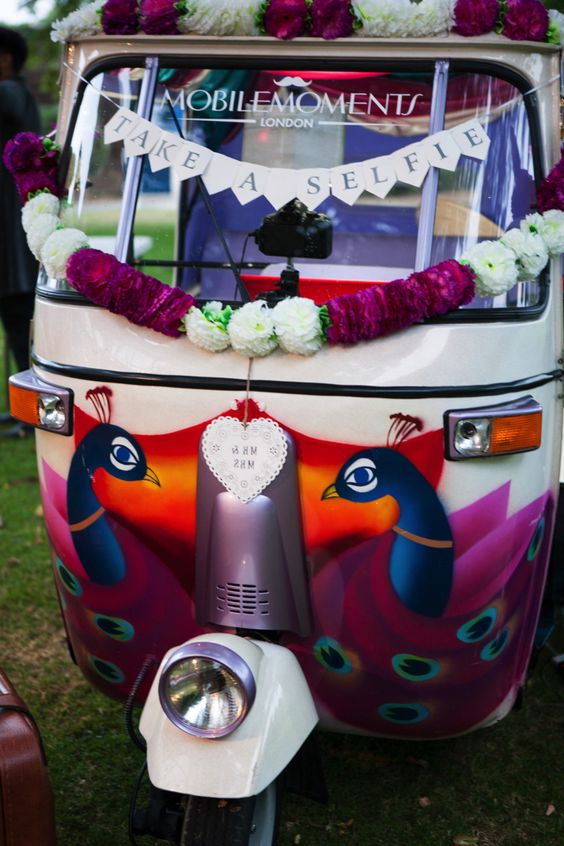 Rickshaw photo booth! Leanne Bracey Photography #photobooth