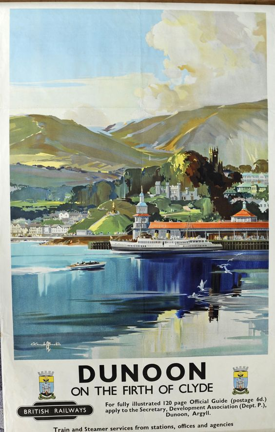DUNOON ON THE FIRTH OF CLYDE BR POSTER.16