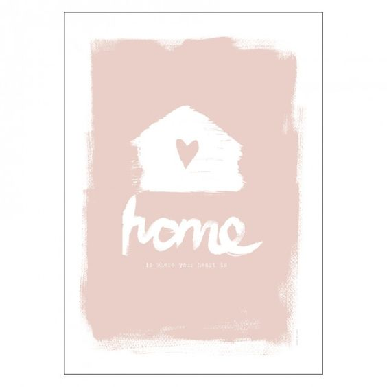 Home dusty pink 30x40 cm - illustrations - ART