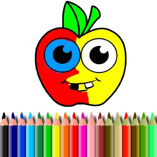 لعبة بتس كتاب تلوين التفاح Bts Apple Coloring Book Tech Logos School Logos Georgia Tech Logo