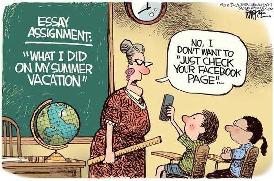 Social media brings the teacher into awkward situation.