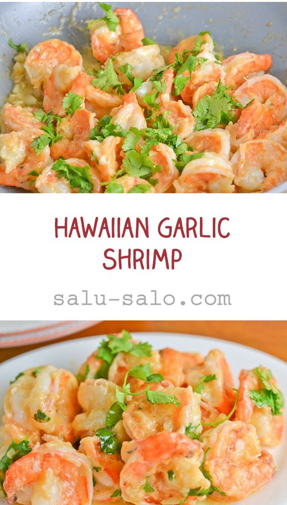 Hawaiian Garlic Shrimp
