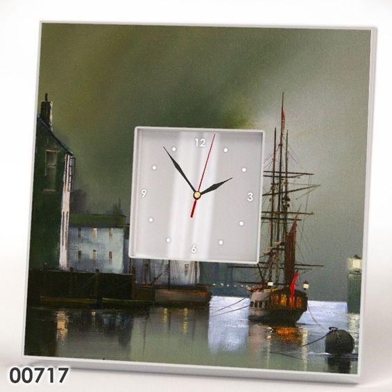 Modern Wall Clock Mirror Frame Contemporary British Art Painting Watch Home Gift #IKEA #Modern