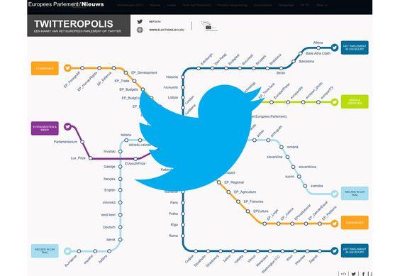 Interactieve kaart van Europese Twitteropolis   Twittermania