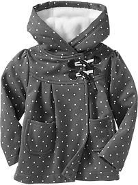 ON Hooded Toggle-Front Coats for Baby