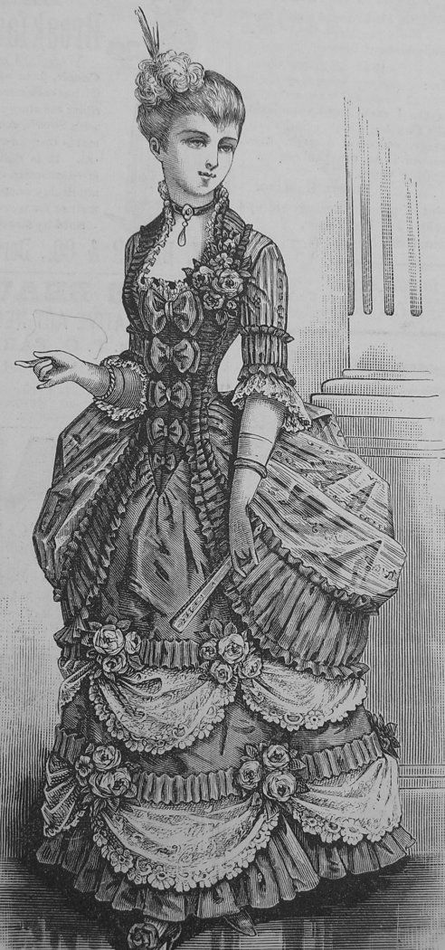Girls Fancy Dress Costume La Mode Illustree' 1870's
