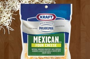 Try some creamy Monterey Jack, Cheddar, Asadero, Queso Quesadilla with cream cheese and make every night a fiesta.