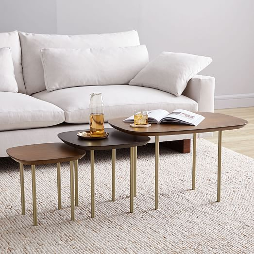 Trio Nesting Tables Set Of 3 Nesting Tables Coffee Table Nesting End Tables