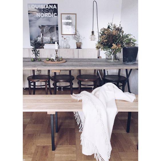 Home   #vsco #vscocam #scandinavianhome #nordichome #fall #wood #woodtable #interior #sinnerlig #ivar