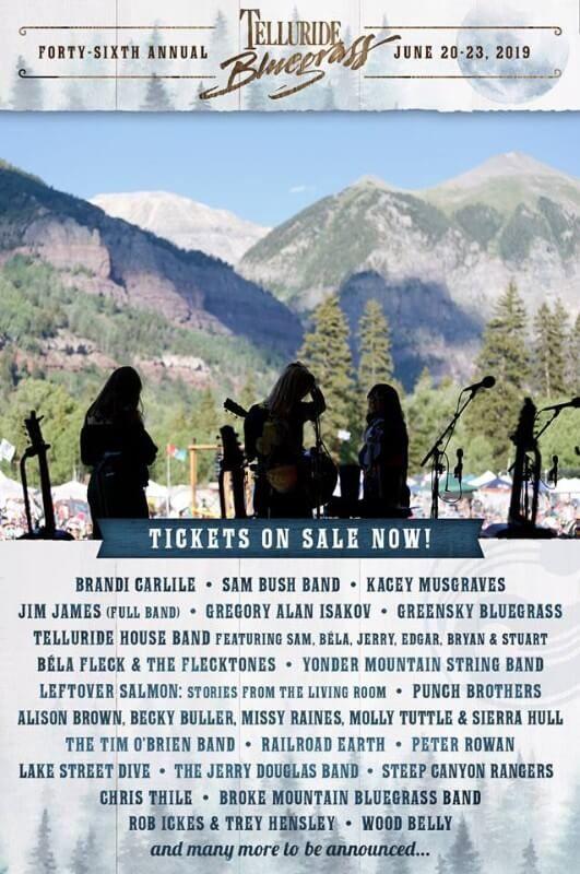 Telluride Bluegrass Festival 2020.Telluride Bluegrass Festival 2019 Summer 19 In 2019