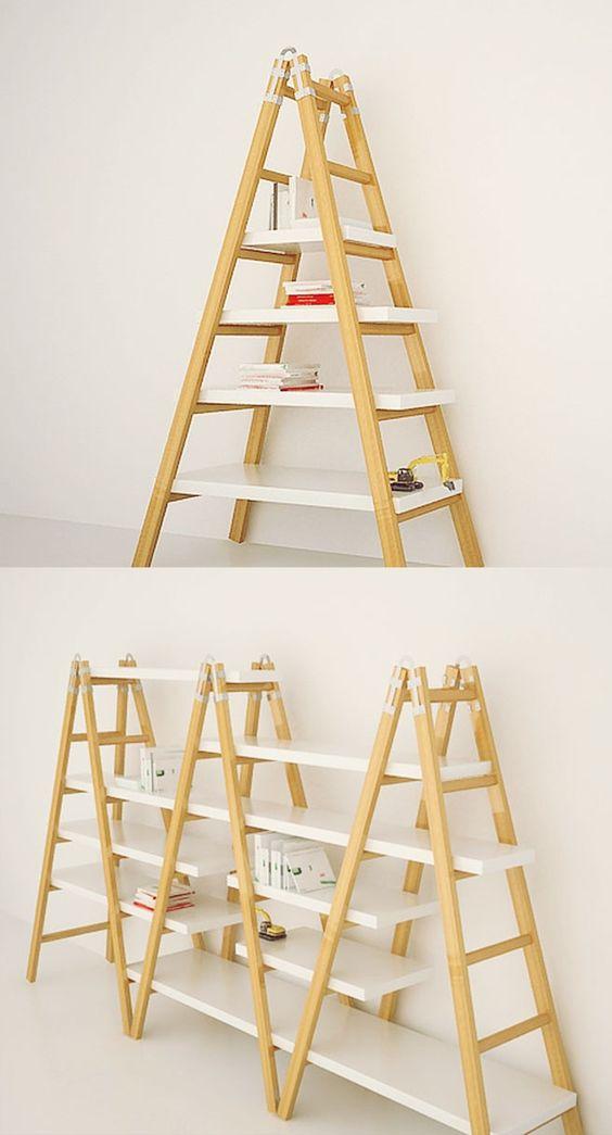 Escada Estante - dupla função em mobiliário e decoração