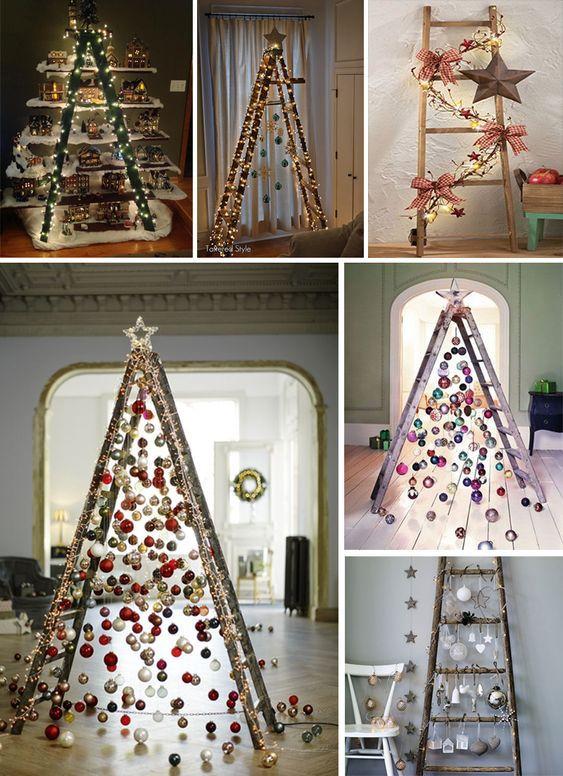 árboles De Navidad Con Escaleras Recicladas árbol De Navidad De Metal Decoracion Navidad Escaparates Decoración De Navidad Moderna