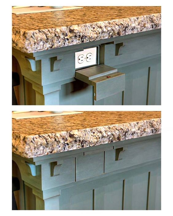 Kitchen Island Receptacle: Keep Electrical Outlets Out Of Sight On Your Kitchen