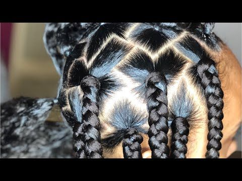 10 Stand Out Ways To Part Your Box Braids Rubber Band Box Braids