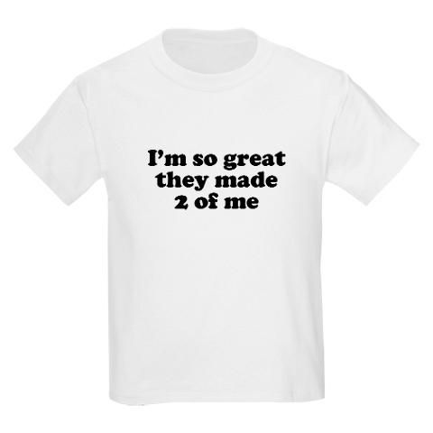 Twins t-shirt.  I'm pretty sure my twins would wear this.  :)