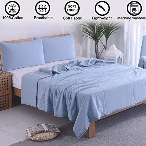 Vanrolldex 3 Piece Comforter Set Thin Quilt Lightweight Bedding