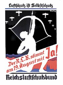 "Yes we can Poster 3R ""Air raid                                         protection is self                                         protection"" (orig. German:                                         ""Luftschutz ist                                         Selbstschutz""), 1934"