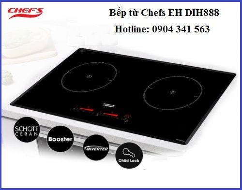 Những con số ấn tượng trên bếp từ Chefs EH DIH888