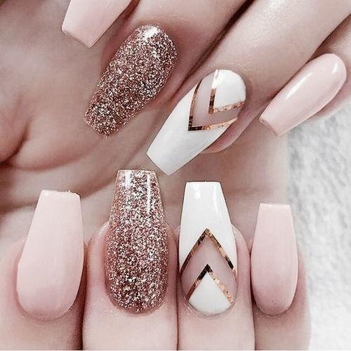 Rose Gold Sparkles Rose Gold Nails Glitter Gold Glitter Nails Rose Gold Nails