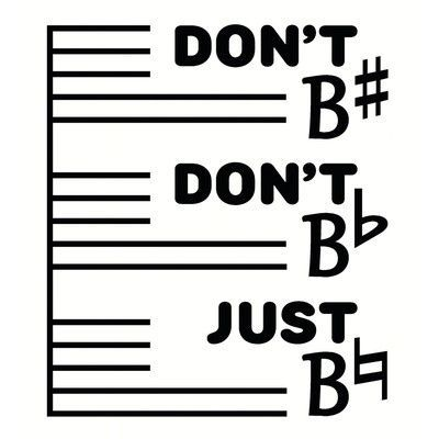 Secretly Designed 'Don't B#' Taxtual Art
