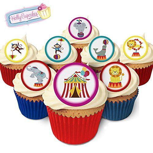 24 Wunderschöne essbare Kuchendekorationen: Zirkus / 24 Edible Decorations: Circus Holly Cupcakes http://www.amazon.de/dp/B0131HZX5U/ref=cm_sw_r_pi_dp_ifNbxb06FY84N