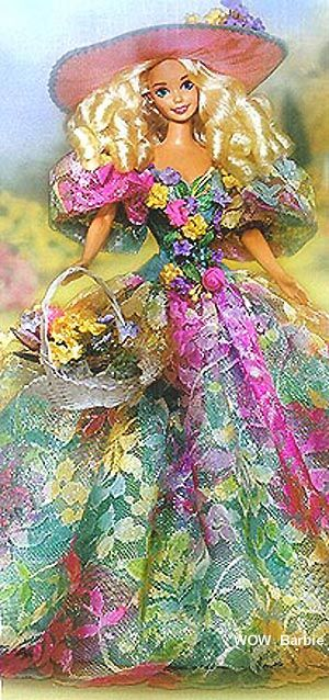 Spring Bouquet Barbie. I wanted this one so much! I think I even tried saving up money to buy her.