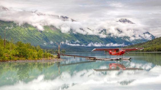 This seaplane will take you places! Escape to Kenai, Alaska.
