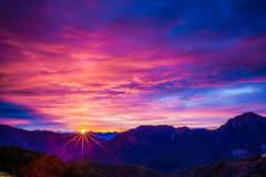 Sunset mountain landscape Royalty Free Stock Images