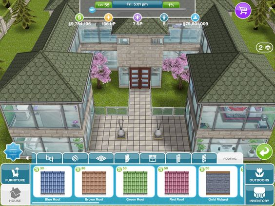 Sims house design and mansions on pinterest - Sims freeplay designer home ...