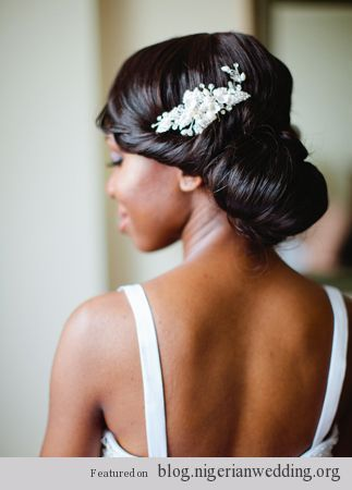 Nigerian wedding bridal hairstyles 1