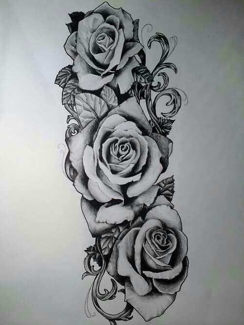 Frauen rosen tattoo oberarm Tattoo Oberarm