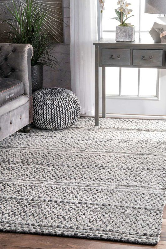 Cordell Cotton Silver Indoor Area Rug With Images Area Room