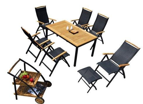 7-teilige Gartengarnitur CORDOBA Gartenmöbel- Sets Pinterest - gartenmobel set alu 7 teilig